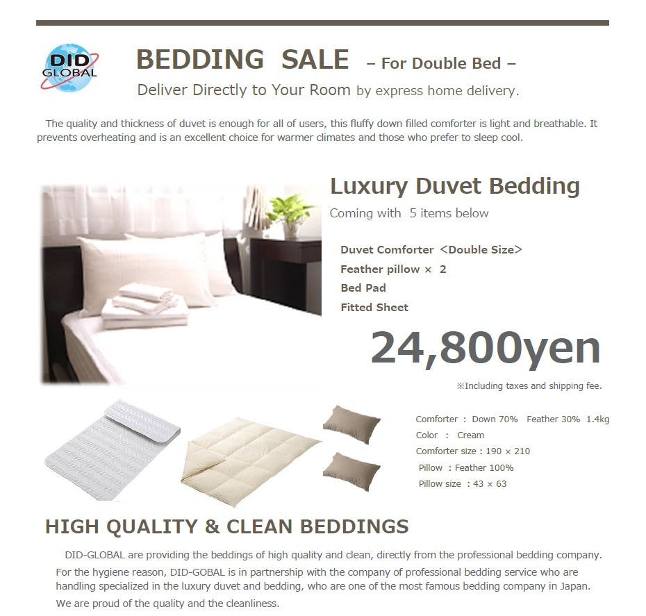 Bedding sale-Double